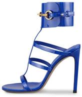 Gucci Patent Leather Gladiator Sandal, Cobalt