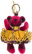 Burberry ballerina bear keyring - women - Calf Leather/Nylon/Crystal/glass - One Size