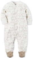 Carter's 1-Pc. Bear-Print Footed Fleece Coverall, Baby Boys (0-24 months)