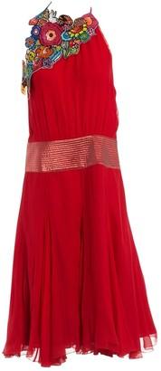 N. Boyd \N Red Silk Dresses