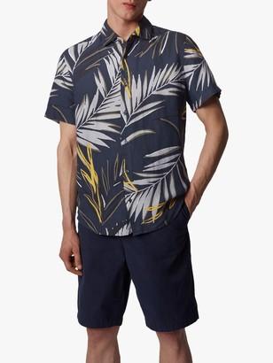 HUGO BOSS Rash Palm Print Short Sleeve Shirt, Dark Blue