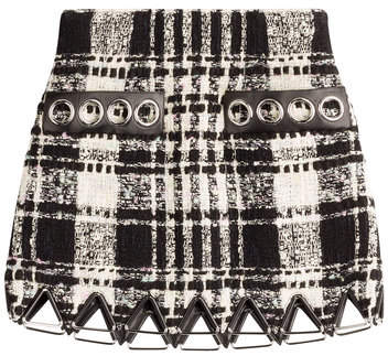 Alexander Wang Bouclé Skirt with Leather
