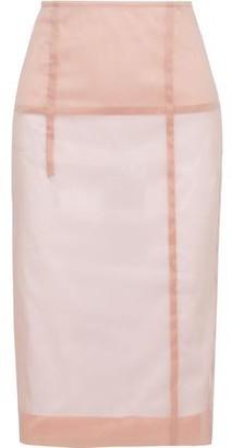 Victoria Beckham Silk-blend Organza Pencil Skirt