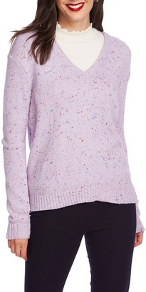 Court And Rowe Nep Flecked V-Neck Sweater