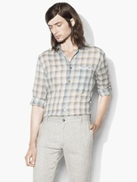 John Varvatos Slim Fit Plaid Shirt