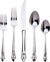 Gingko International Fleur De Lis 20-pc. 18/10 Stainless Steel Flatware Set