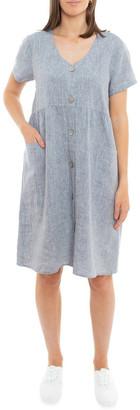 Jump Sleeveless Button Thru Linen Dress