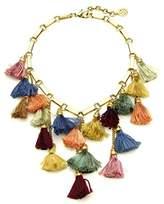 Ben-Amun Women's 24k Gold Plated Multicolour Venetian Breeze Statement Tassel Necklace of Length 43.5cm