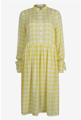 Baum und Pferdgarten Agacia Creamy Lemon Check Dress - 38 / Lemon Check