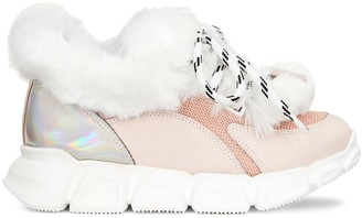Giuseppe Junior Marshmallow Winter chunky-sole sneakers