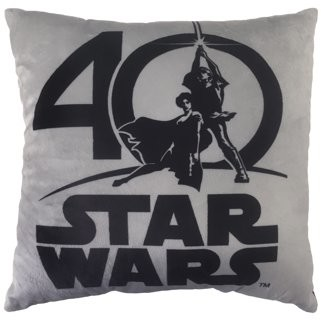 Star Wars 40th Logo Decorative Pillow
