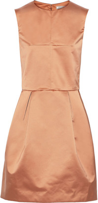 Nina Ricci Pleated Satin Mini Dress