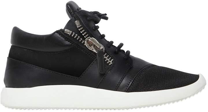Giuseppe Zanotti Design 20mm Leather & Suede Sneakers