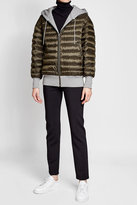 Burberry Down Jacket with Hood and Jersey Details