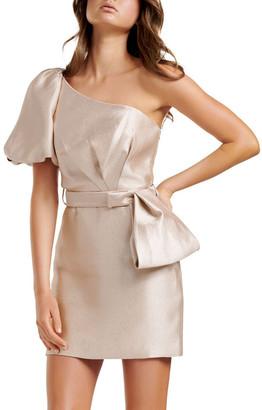 Forever New Maple One Shoulder Bow Mini Dress