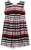 Helena Stripe Pleat-Print Knit Dress, Size 7-14