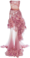Marchesa Ombre Tiered Gown