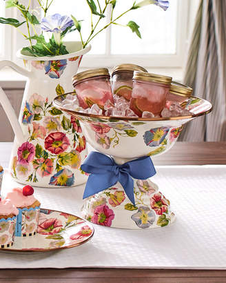 Mackenzie Childs MacKenzie-Childs Morning Glory Large Compote