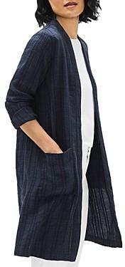 Eileen Fisher Long Linen Blend Jacket