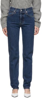 Helmut Lang Blue Masc Hi Straight Jeans