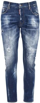 DSQUARED2 17cm Tidy Biker Denim Stretch Jeans