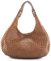 Bottega Veneta Light Brown Intrecciato Leather Campana Hobo Handbag EVHB