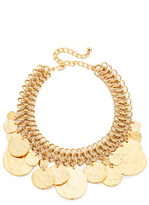 Kenneth Jay Lane Coin Chain Choker Necklace