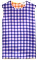 Diane von Furstenberg Plaid sleeveless silk blouse