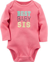 Carter's Long-Sleeve Pink Sister Slogan Bodysuit - Baby Girls newborn-24m