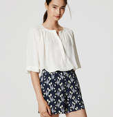 LOFT Valley Floral Pleated Shorts