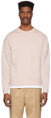 Schnaydermans Pink Mercerized Cotton Sweater