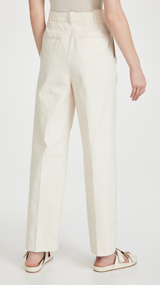 Tory Burch Canvas Pleated Trousers