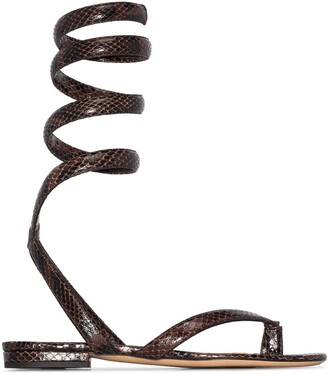 Bottega Veneta Wrap-Around Ankle Strap Sandals