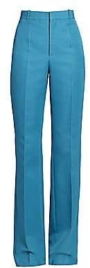 Balenciaga Women's High-Waist Flat Front Pants