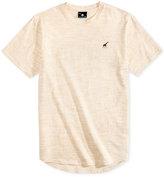 Lrg Men's Sportive Space-Dyed Graphic-Print Logo Cotton T-Shirt