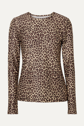 Cover Leopard-print Rash Guard