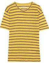 Etoile Isabel Marant Andreia Striped Slub Linen And Cotton-Blend Jersey T-Shirt