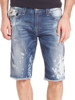 True Religion Ricky Distressed Shorts