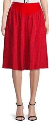Givenchy Velvet Jacquard Skirt