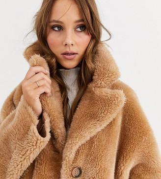 Urban Code Urbancode exclusive reversible shearling coat-Brown