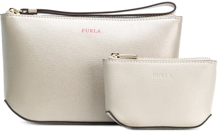 Furla Electra large and small make-up bag set