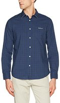 Luis Trenker Men's Bodo Karo Traditional Costume Shirt