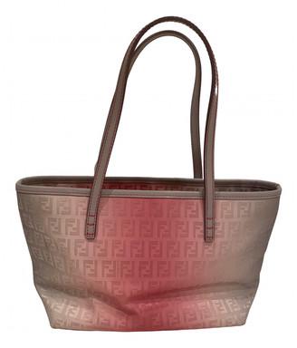 Fendi Roll Bag Pink Cloth Handbags