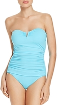 Tommy Bahama Pearl V-Wire Bandeau One Piece Swimsuit