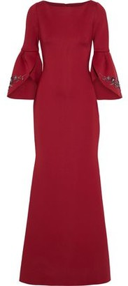 Badgley Mischka Embellished Neoprene Gown