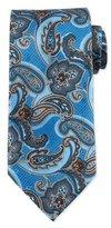 Ermenegildo Zegna Paisley-Print Silk Tie, Light Blue