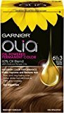 Garnier Olia Oil Powered Permanent Hair Color, 6 1/2.3 Lightest Golden Brown (Packaging May Vary)