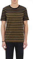 Rag & Bone Men's Variegated Striped Cotton Jersey T-Shirt-DARK GREEN