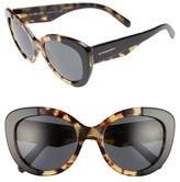 Burberry Women's 54Mm Butterfly Sunglasses - Black/ Havana