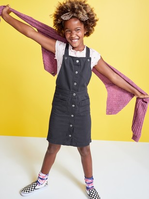 Old Navy Twill Pinafore Overall Dress for Girls